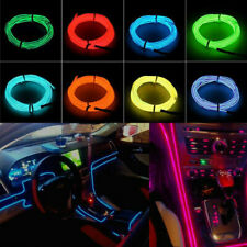 1m Blue Flexible Neon LED Light Glow EL Wire String Strip Rope Car Auto Party