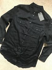 "ALL SAINTS WOMEN'S BLACK ""OCTAVIA"" L/S SHIRT TOP - UK 6 & 12 - NEW & TAGS"