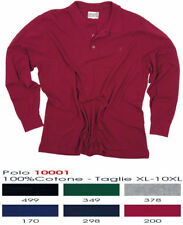 maxfort 10001 polo manica lunga cotone piquet big sizes taglie forti