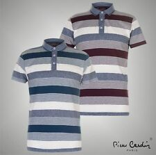 Mens Pierre Cardin Casual Short Sleeves YD Jersey Polo Shirt Top Size S-XXXL