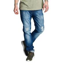Just Rhyse Männer Straight Fit Jeans Tulum in blau W29 30 W31 32 33 34 36 38