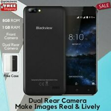 "HOT SALE Blackview A7 5"" Mobile Phone 8GB Dual Rear Cameras 4Core 1GB RAM Sim2x"