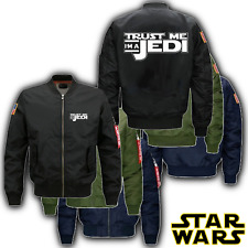 Star Wars Bomber Jacket Merchandise - Trust Me I'm a Jedi Merch - All Size's