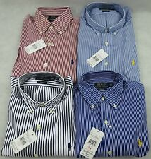 BNWT POLO Ralph Lauren Custom Fit Men Stripe Shirt BRAND NEW With TAG