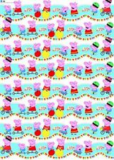 2m Metre Rolls Wrap Children's Peppa Pig Birthday Gift Wrapping Paper