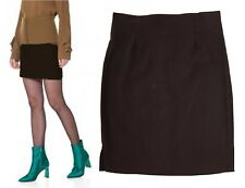 New size 8 -14 Brown short/mini 17 inches skirt zip fastening on back *LICK*
