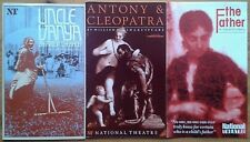 Selection of individual National Theatre programmes from 1980s, programme