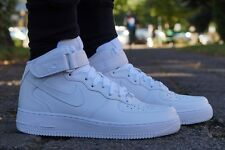 Nuevo Zapatos Nike Air Force 1 Medio Zapatillas High Top Blanco de deporte