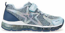 Geox Android Children Sneakers Shoes Trainers j8245b-02anf/c4b0b Blue Grey NEW