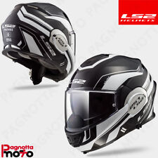 CASCO HELMET MODULARE APRIBILE LS2 FF399 VALIANT LUMEN MATT / GLOSS BLACK LIGHT