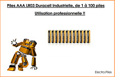 Lots Piles Duracell AAA Procell alcaline industrielle LR03, MN2400 qualité Pro !