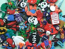 SHOE CHARMS (BX) LARGE PACKS inspired by SUPER HERO - MIXED PACKS - (20 - 50)