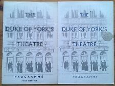 Individual The Duke Of York's Theatre programmes 1950s, West End programme Yorks