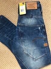 "G-STAR RAW LIGHT AGED ""TYPE C 3D LOOSE TAPERED"" JEANS - 28"" W x 32"" L - NEW TAGS"