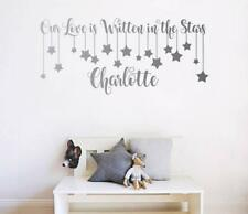 Our Love is Written in the Stars Personalised Wall Sticker