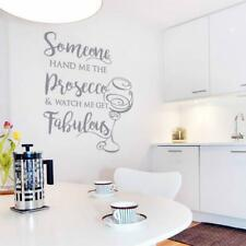 Someone hand me the Prosecco Wall Sticker Wall Chick Decal Art Sticker Quote