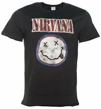Official Men's Charcoal Nirvana Smiley Colours T-Shirt from Amplified