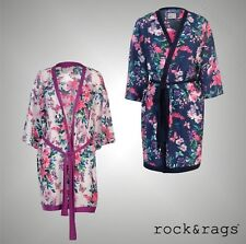 Ladies Rock And Rags Lightweight All Over Floral Kimono Nightwear Size 8-22