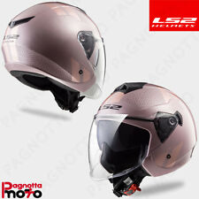 CASCO HELMET LADY DONNA JET DP. VISIERA LS2 OF573 TWISTER COMBO PALE PINK ROSA