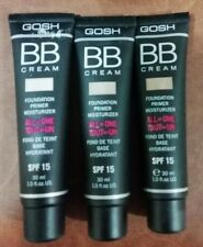 GOSH BB Cream All in One Foundation, Primer, Moisturizer SPF 15, 30ml Shades