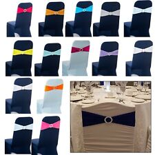 Lycra Spandex Chair Cover Band with Buckle for Chair Cover Party Chair Decor UK