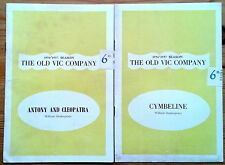 Individual Old Vic Company programmes 1950s, Old Vic Theatre programme