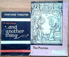Selection of individual Fortune Theatre programmes 1960s, programme