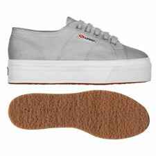SUPERGA 2790 zeppa 4cm Scarpe DONNA 2790ACOTW LINEA UP AND DOWN ACOTW GRIGIO M38