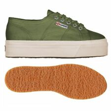 SUPERGA 2790 zeppa 4cm Scarpe DONNA 2790ACOTW LINEA UP AND DOWN acotw verde B63c