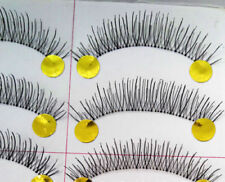 10 Pairs Black Natural Thick Long False Eyelashes Fake Eye Lashes Make Up