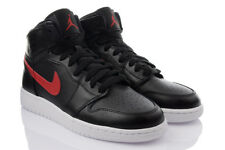Nike Air Jordan 1 Retro Zapatillas High Top de deporte Piel Negro SUPEROFERTA