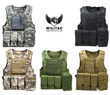 Táctico chaleco. Airsoft /Paintball Chaleco/ MOLLE COMBAT Chaleco Asalto+MAG