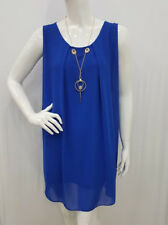 New Ladies Women's Italian Unique Back Style Dress Top Comes With Key Necklace