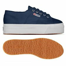 SUPERGA 2790 zeppa 4cm Scarpe DONNA 2790ACOTW LINEA UP AND DOWN Acotw Blu X1Ypmt