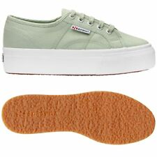 SUPERGA 2790 zeppa 4cm Scarpe DONNA Acotw up and down verde Prv/Est New 936yjnal