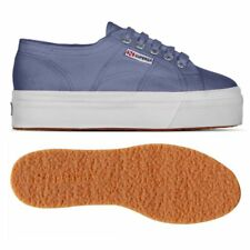 SUPERGA 2790 zeppa 4cm Scarpe DONNA 2790ACOTW LINEA UP AND DOWN acotw BLUE X46sx