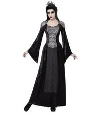 Womens Ladies Dark Queen Enchantress Fancy Dress Costume Halloween Outfit