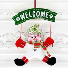 Christmas Santa Claus Snowman Ornaments Xmas Tree DoorPlate Hanging Props EA9