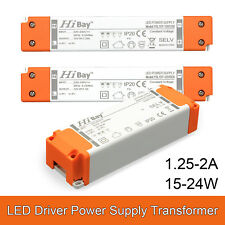 UK STOCK LED Driver Power Supply Transformer 240V -DC 12V 15W 18W 24W Extra Slim