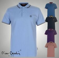 Mens Designer Pierre Cardin Short Sleeves Slim Fit Tipped Polo Shirt Size S-XXL
