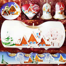 Bauble Candle Holders Bell Christmas Hand Painted Christmas Tree Ornaments