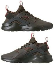 NIKE AIR HUARACHE RUN ULTRA SE MEN's CASUAL CARGO KHAKI - TOTAL CRIMSON NEW SIZE