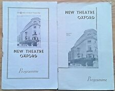 Selection of individual New Theatre Oxford programmes 1950s, programme