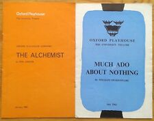 Selection of individual Oxford Playhouse programmes 1960s, theatre programme