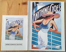 Individual Anything Goes programmes 1989-1990, Prince Edward Theatre programme