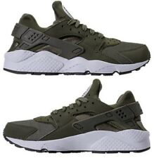 NIKE AIR HUARACHE RUN MEN's MESH RUNNING CARGO KHAKI - WHITE - BLACK AUTHENTIC