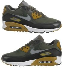 NIKE AIR MAX 90 ESSENTIAL MEN's RUNNING CARGO KHAKI - GREY - BLACK - SEQUOIA NEW