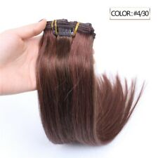 Luxury Clip In Human Hair Extensions #4/30 Balayage Ombre Remy 7pcs 100g
