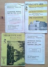 Selection of individual Shakespeare Festival booklets 1944-1950 Memorial Theatre