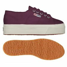 SUPERGA 2790 zeppa 4cm Scarpe DONNA 2790ACOTW acotw up and down VIOLET PRUNE B57